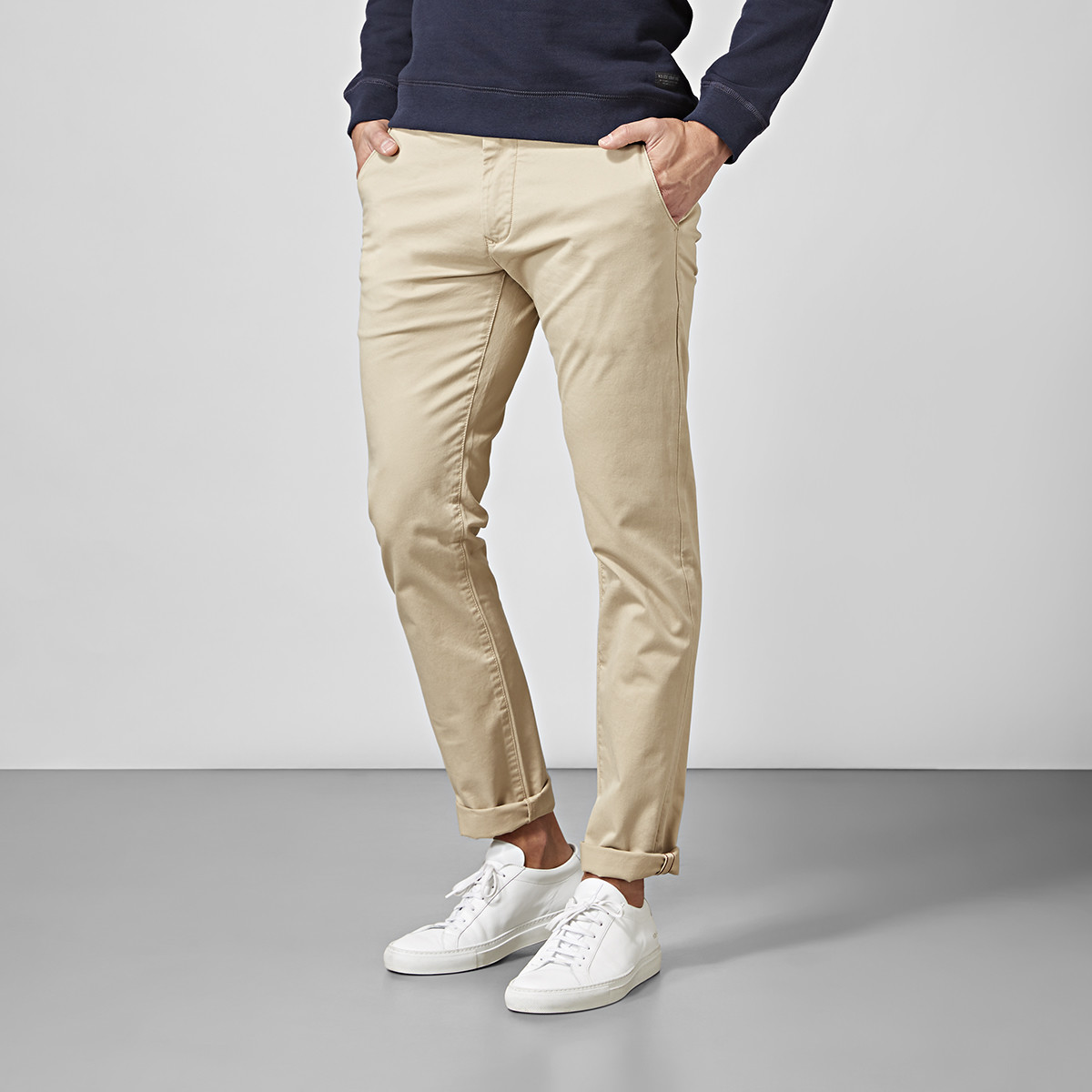 Slim fit chinos - beige | East West | Brothers.se