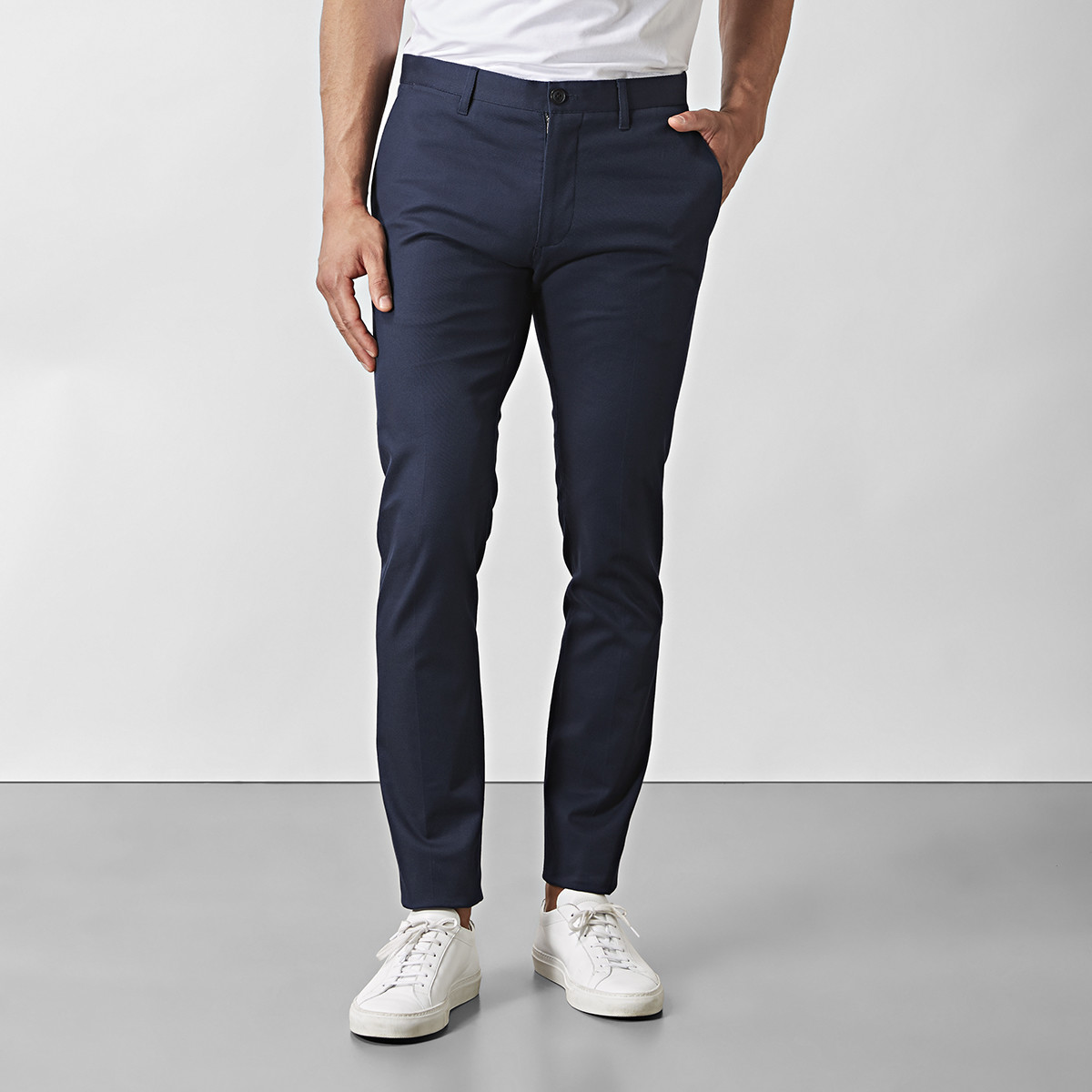 Byxa Stanton Twill Stretch Blå | Riley | Brothers.se