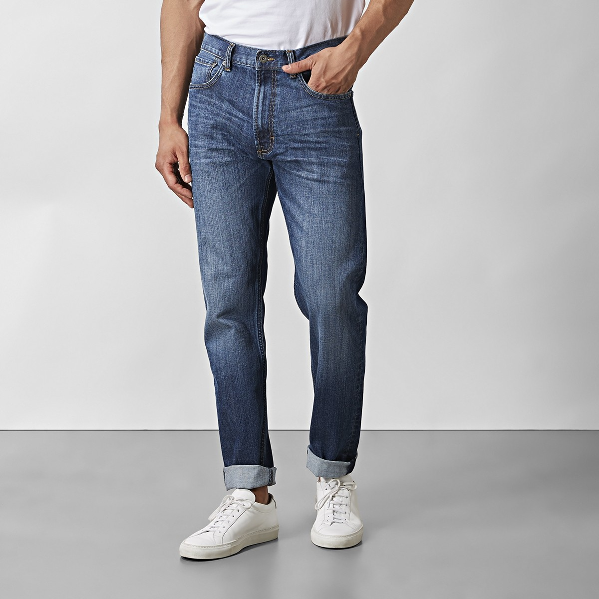 Bailey Jeans Mid-Indigo Blå | East West | Brothers.se