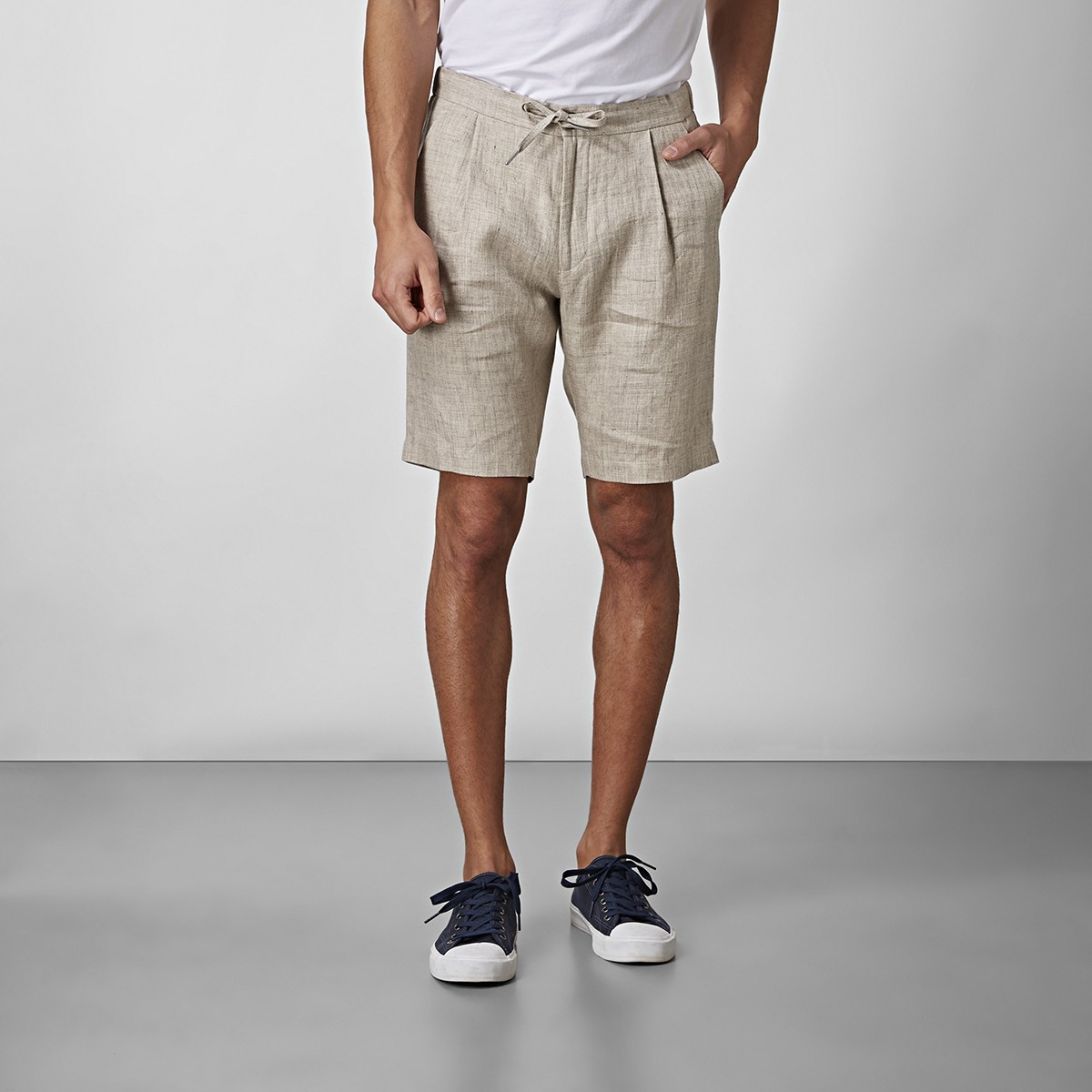 Shelby Linneshorts Beige | Riley | Brothers.se