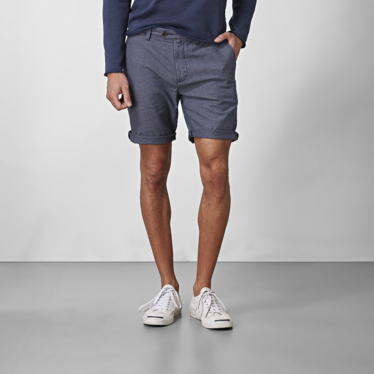 Bowery Chinos Shorts Blå | East West | Brothers.se