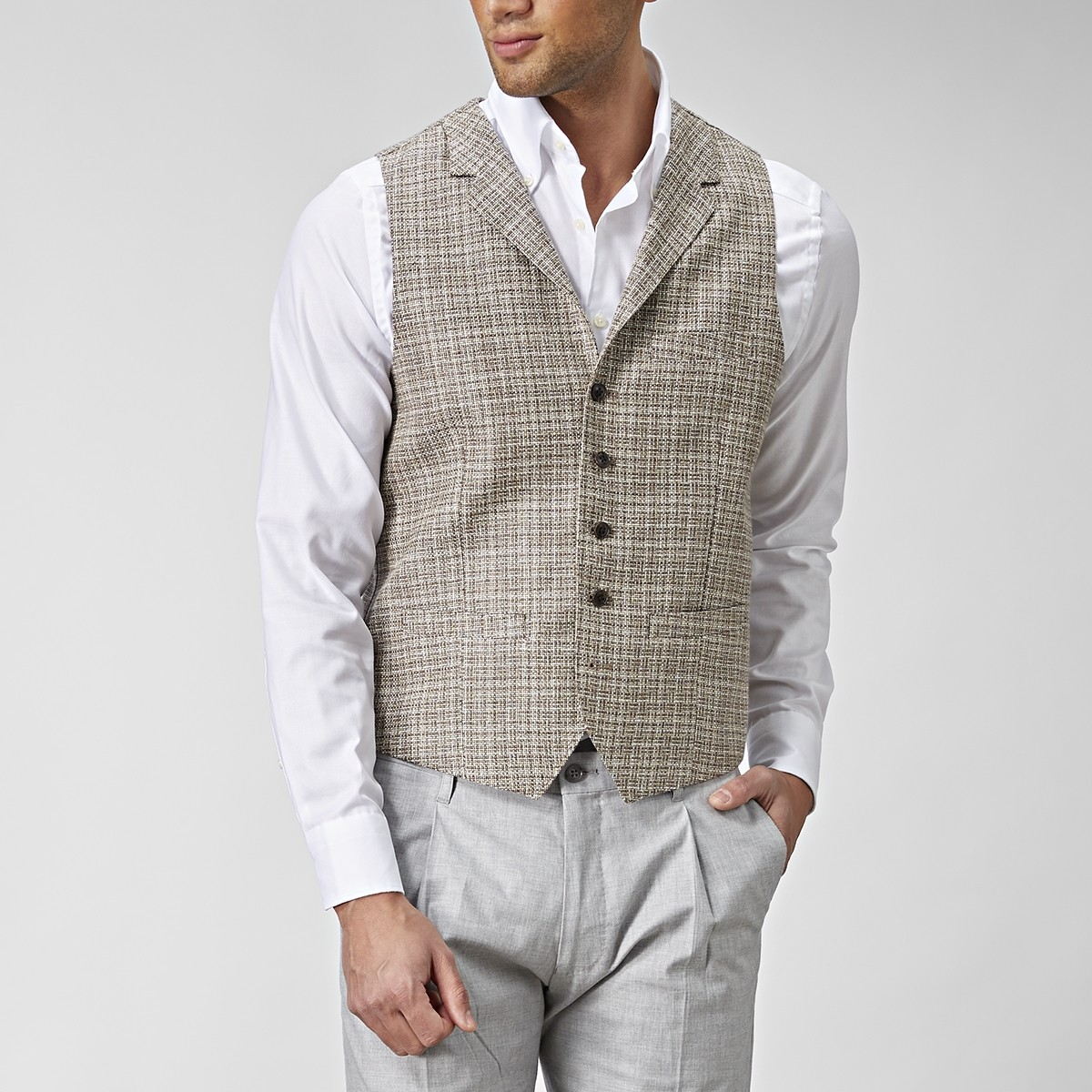 Stafford Väst Beige | The Tailoring Club | Brothers.se