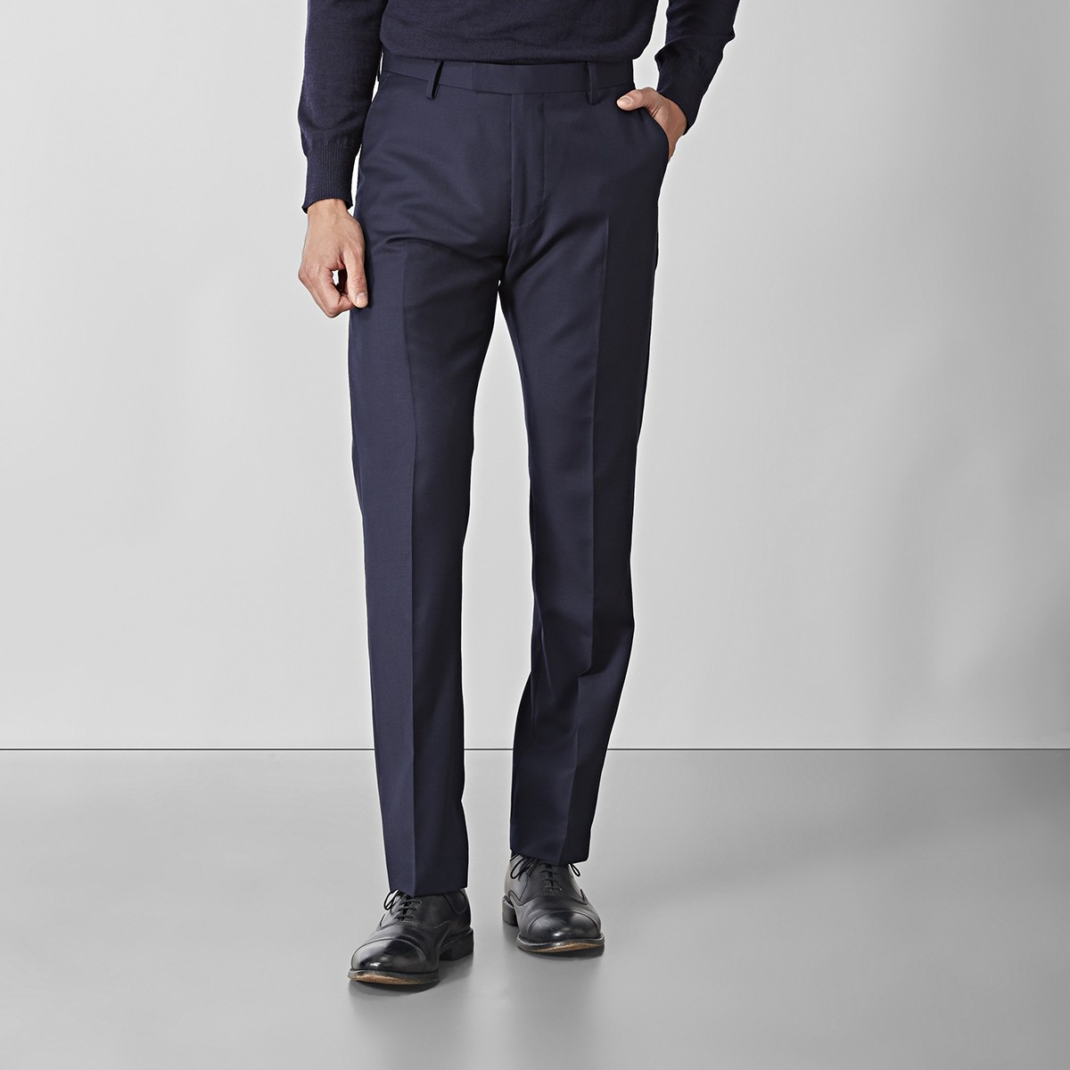 Shelby Wool Twill Kostymbyxor Marinblå | Riley | Brothers.se