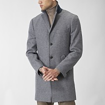Sargent knitted coat grey