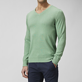 TRUMAN COTTONSILK V-NECK NEULE