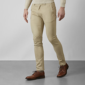 Bowery Chinos Travertine | East West Brothers.se
