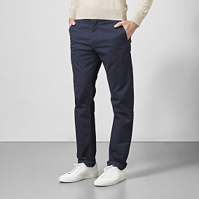 Baxter Stretch Chinos Navy | East West Brothers.se