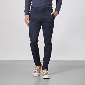 Barton Chino Super slim fit - blå | East West | Brothers.se