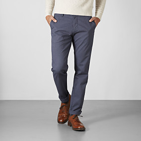 Chino Bowery Winter Cotton - Blå | East West | Brothers.se