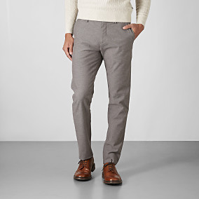 Chino Bowery Winter Cotton - Brun | East West | Brothers.se
