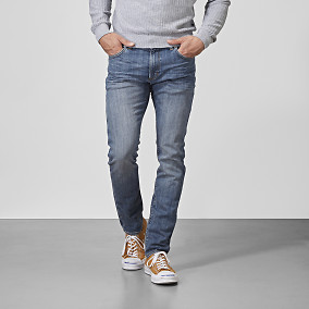 Slim fit jeans - Bowery Mid wash | East West Brothers.se
