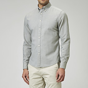 Grön Oxfordskjorta - slim fit | East West | Brothers.se