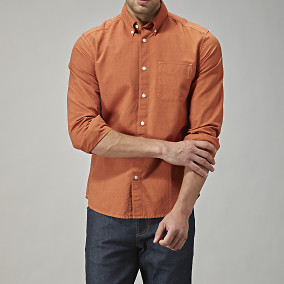 Oxfordskjorta regular fit - orange | East West | Brothers.se
