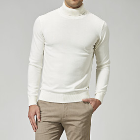Polotröja Woolair - offwhite | The Tailoring Club | Brothers.se