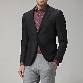 Shelby peak wool blazer - svart | Riley | Brothers