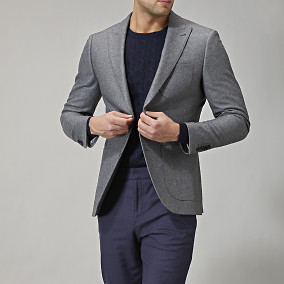 Shelby Peak wool blazer - grå | Riley | Brothers.se