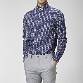 Mönstrad slim fit skjorta | Riley | Brothers.se