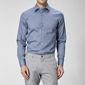 Mönstrad super slim fit skjorta | Riley | Brothers.se