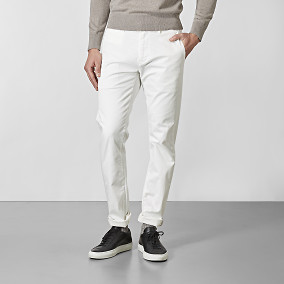 Bowery Stretch Chinos - offwhite | East West | Brothers.se