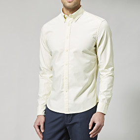 Gul oxfordskjorta - slim fit | East West | Brothers.se