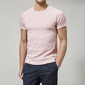 Rundhalsad T-shirt Rosa O-neck | East West | Brothers.se