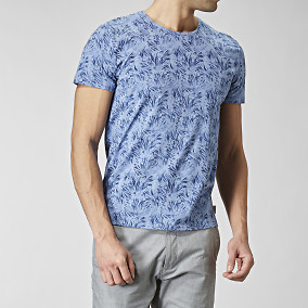 T-shirt Fuel Print Blå | The Tailoring Club | Brothers.se