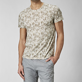 T-shirt Fuel Print Beige | The Tailoring Club | Brothers.se