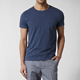 T-shirt Linen Blå | Riley | Brothers.se