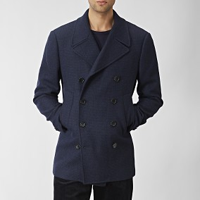 Haddock Peacoat Villakangastakki Sininen | The Tailoring Club | Brothers.fi