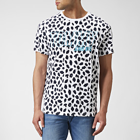 T-shirt Animal Print Vit | Tommy Hilfiger | Brothers.se