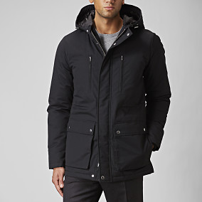 Falcao Parka Svart | East West | Brothers.se