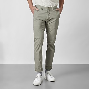 Bowery Stretch Chino Oliivi | East West | Brothers.fi