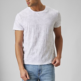 Diego Mönstrad T-shirt Beige | East West | Brothers.se