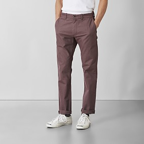 Baxter Stretch Chinos Röd | East West | Brothers.se