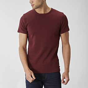 O-neck Vinröd T-shirt | East West | Brothers.se