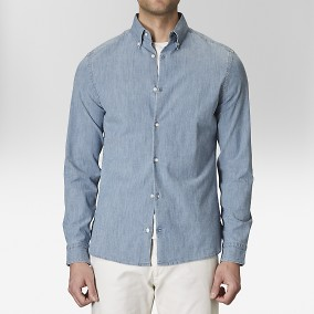 Bramley Sininen Chambray Kauluspaita | The Tailoring Club | Brothers.fi