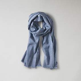 Chambray Scarf Blå | East West | Brothers.se
