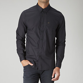 Skjorta Lee button down svart | Brothers.se