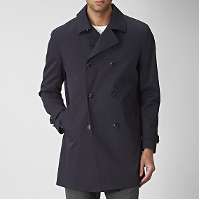 Shelby Trenchcoat Blå | Riley | Brothers.se